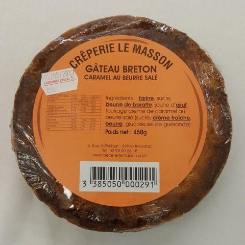Gateau breton à la crème de caramel au beurre salé 450g